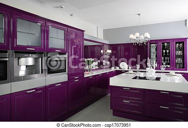 Banco de imagem modernos roxo cozinha elegante for Mobilia international