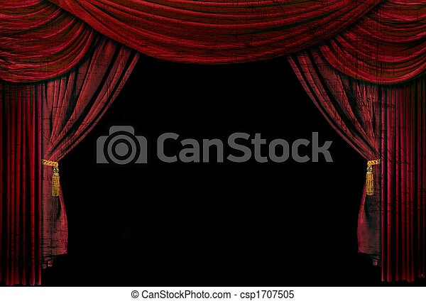 Old fashioned, elegant theater stage drapes - csp1707505