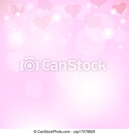 Pink background with hearts for Valentine's Day - csp17079829