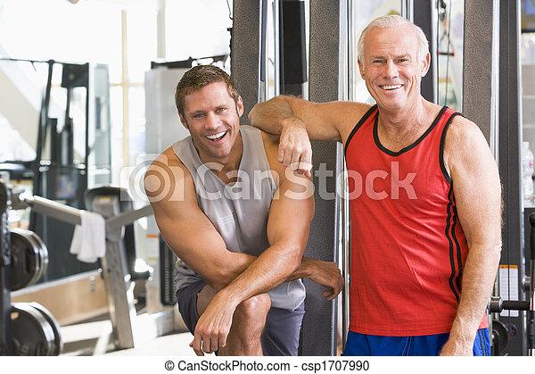 gymnastiksal, män, tillsammans - csp1707990