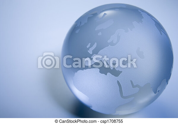 Blue Colored Globe - csp1708755