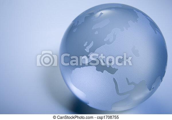 Blue Colored Globe - csp1708755