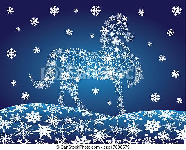 EPS Vectors of Penguins Carolers with Night Winter Scene ...