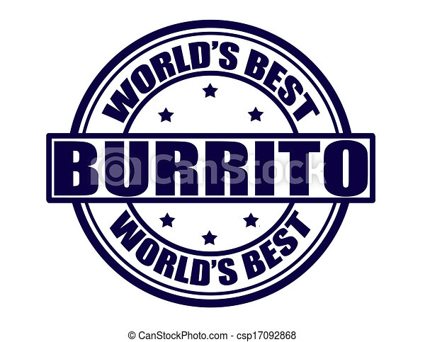 Clip Art Vector of Best burrito - Stamp with text best burrito ...