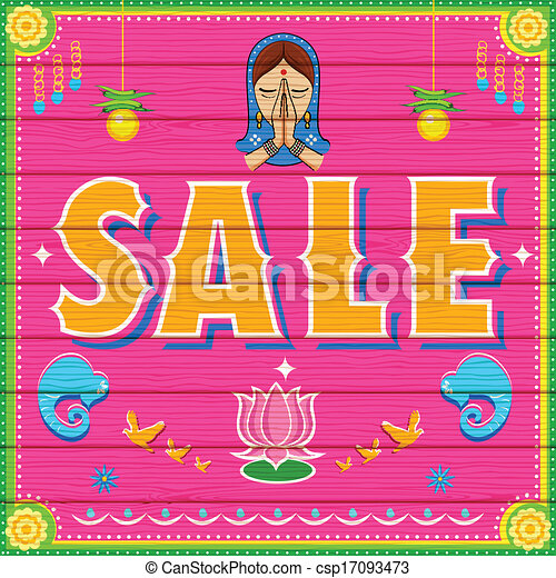 Vectors Illustration Of Sale Background In Indian Truck