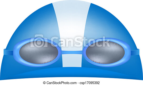 Swimming Goggles Vector Swimming Cap And Goggles Eps