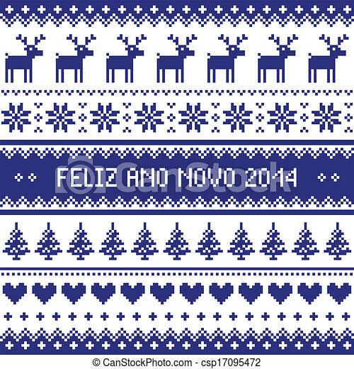 Feliz Ano Novo 2014 - protuguese  - csp17095472