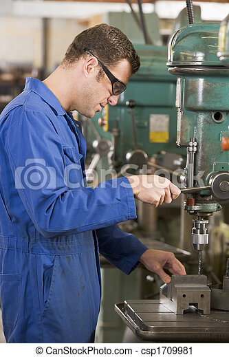 Machinist working on machine - csp1709981