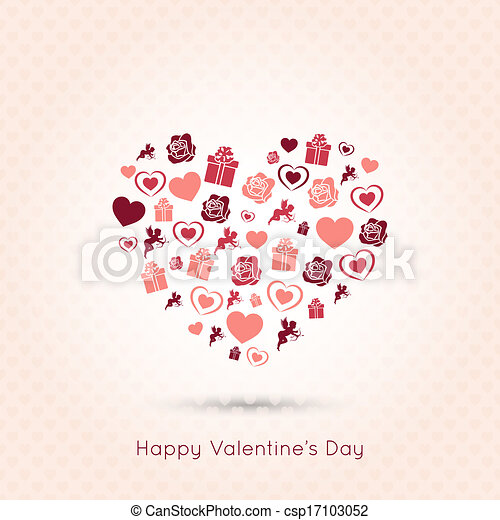 valentines day heart seamless design background - csp17103052