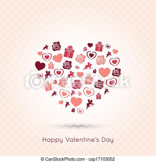 valentines day heart seamless design background - csp17103052
