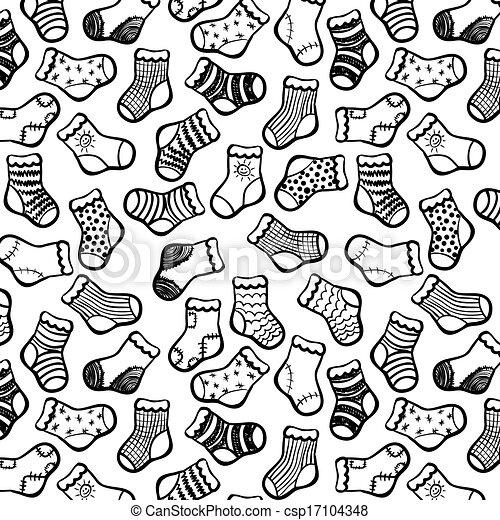 Socks clipart black and white