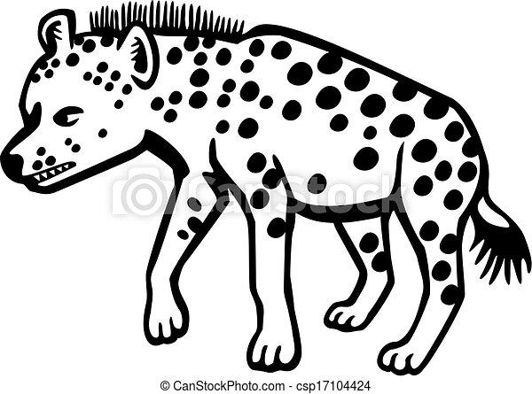 Ilustraciones de Vectores de hiena - vector, dibujo, manchado ...