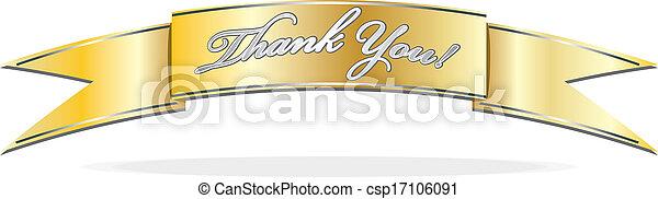 Thank you banner - csp17106091