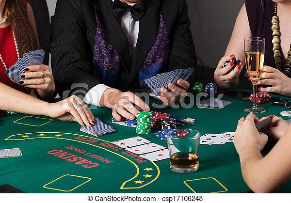 Rich people gambling in casino - csp17106248