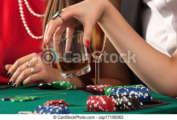 Friends enjoying a gambling - csp17106363