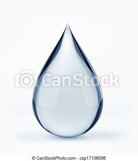 3D water drop on white - csp17108098