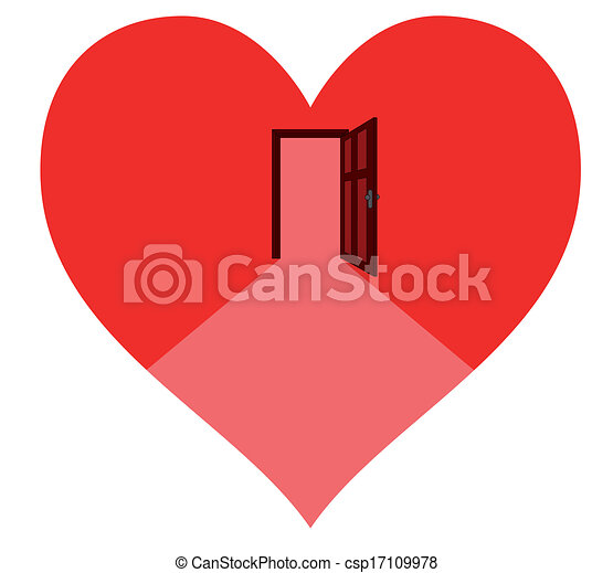 door in the heart - csp17109978
