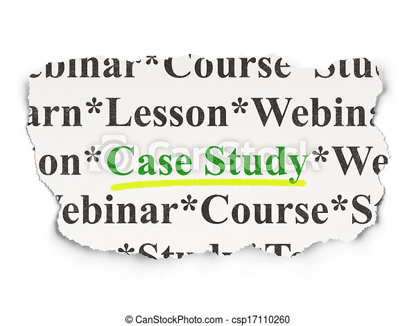 Education concept: Case Study on Paper background - csp17110260