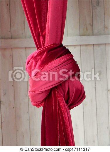 clipart de noeud rouges red rideau attach dans noeud les csp17111317. Black Bedroom Furniture Sets. Home Design Ideas