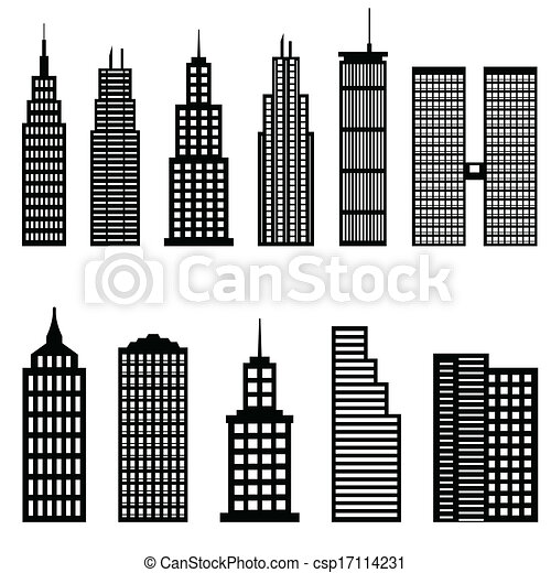 Architectural Drawings Of Skyscrapers vectors of tall buildings and skyscrapers architecture csp17114231
