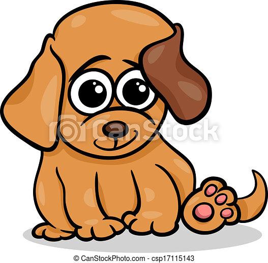 EPS vector de bebé, perro, perrito, caricatura, Ilustración ...