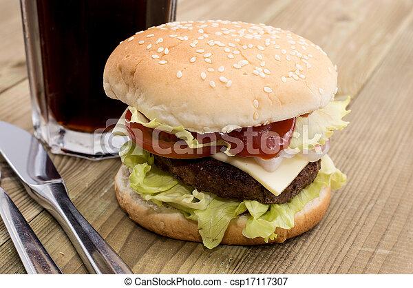 Burger with Softdrink - csp17117307