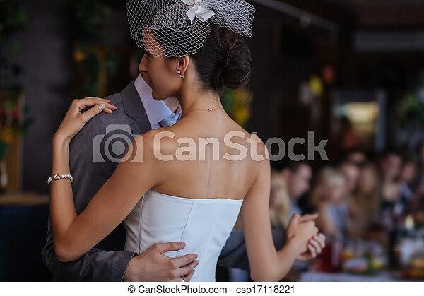 First wedding dance - csp17118221