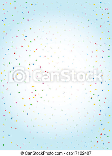 Confetti Falling - csp17122407