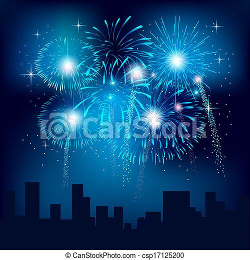 Fireworks - csp17125200
