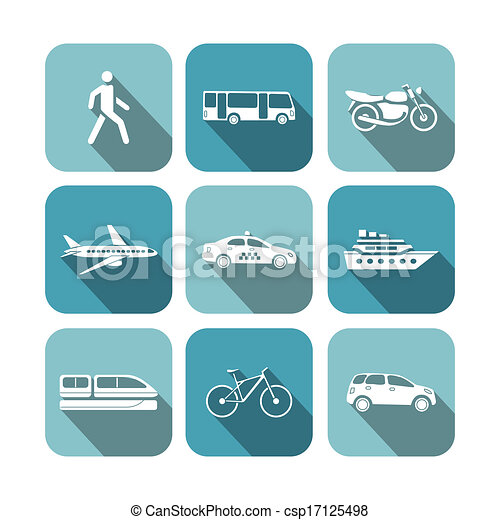 Transportation icons set - csp17125498