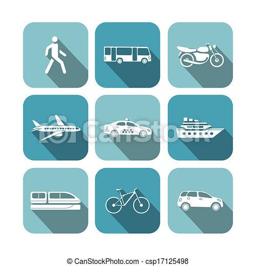 Transportation icons set - csp17125498