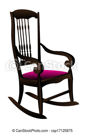 Rocking Chair Clipart vectors illustration of rocking chair vector illustration