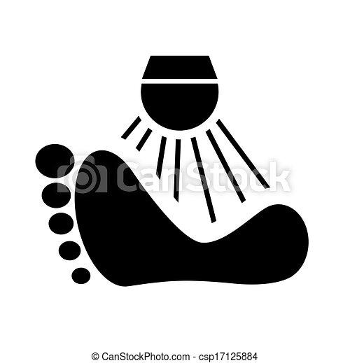 Vettore di piedi lavare vettore tuo segno lavare for Piani di studio 300 piedi quadrati
