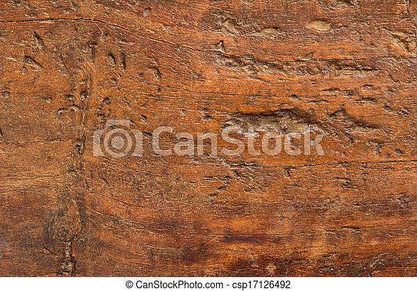 antikvitet, nära, ved, uppe, bord - csp17126492