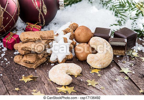 Mixed Christmas Sweets - csp17136492