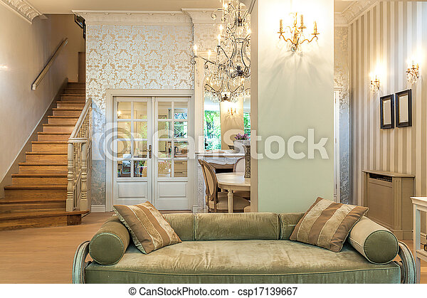 Vintage mansion - antique couch - csp17139667