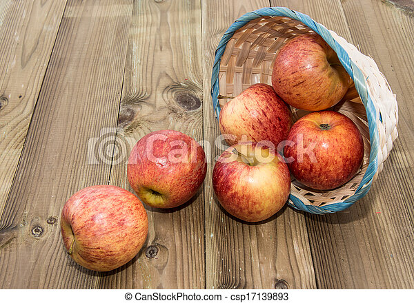 Some Apples in a basket