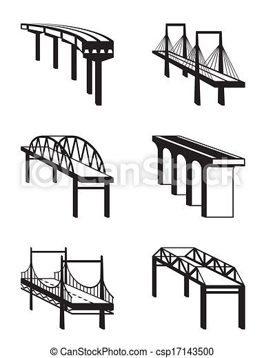 Various bridges in perspective - csp17143500