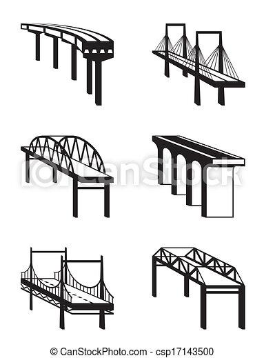 Various bridges in perspective - csp17143500
