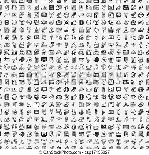seamless doodle communication pattern - csp17155027