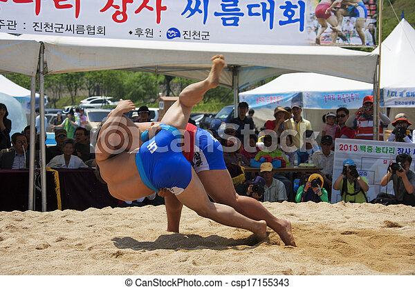 traditional festival in south korea, Nongdari, wrestling, ssireum