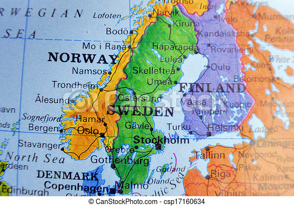 Stock Photos Of Map Of Sweden Closeup Map Of Sweden