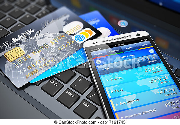 Mobile banking and finance concept - csp17161745