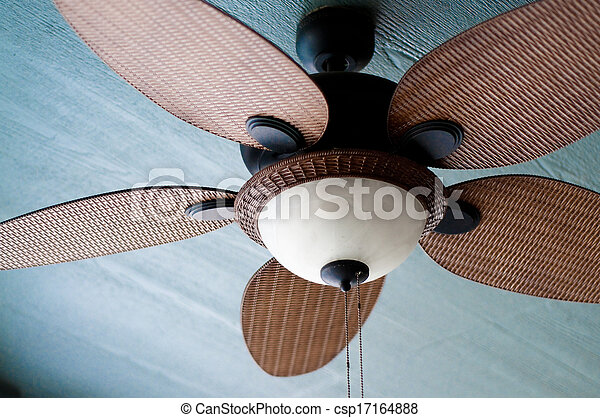 Outdoor ceiling fan of residential home - csp17164888