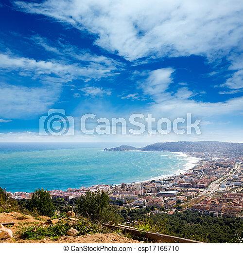 Javea in Alicante aerial view Valencian Community spain - csp17165710