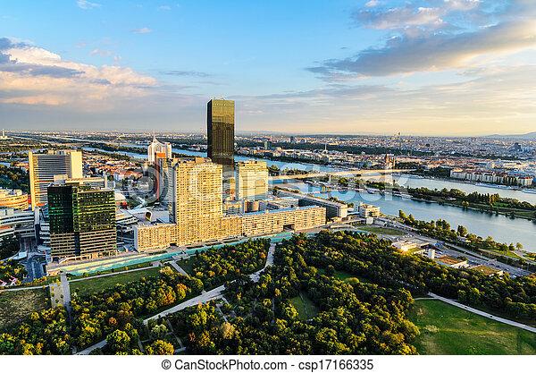 Aerial view of Vienna, Austria - csp17166335