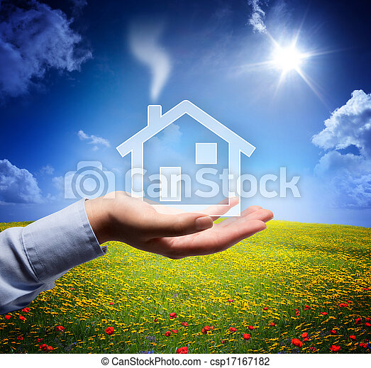 home concept in your hand - scene - csp17167182