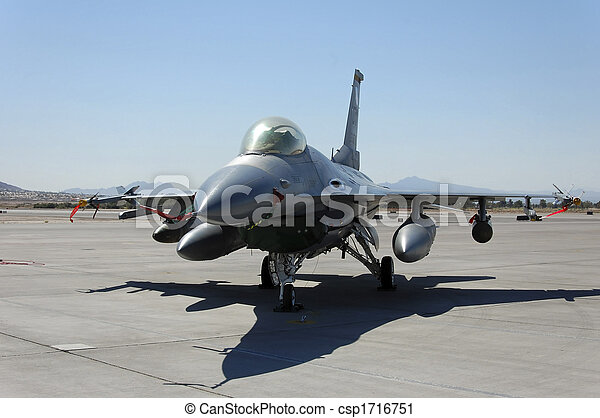 Military Fighter Aircraft Ground Display - csp1716751