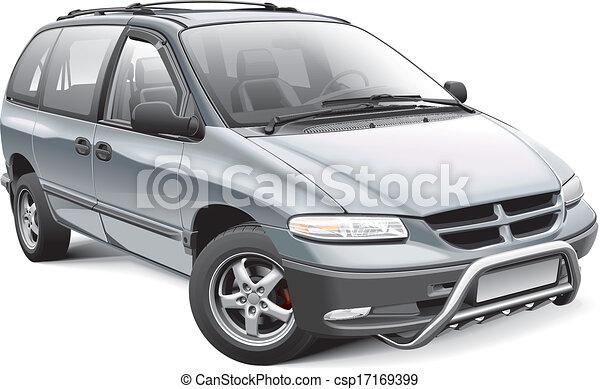 Minivan with roo bar - csp17169399