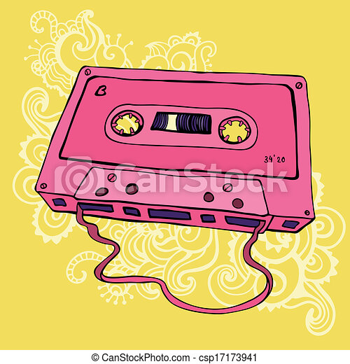 EPS Vector of Retro audio cassette, tape recorder, music player ...